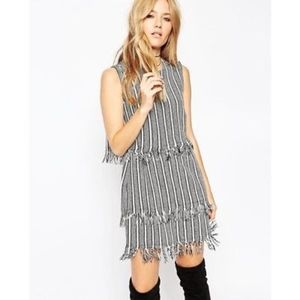 ASOS Cut and Sew Stripe double layer dress - sz 12